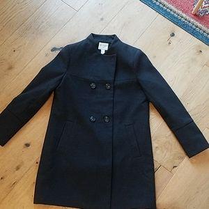 Black/dark charcoal women's size Large peatcoat